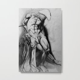 Male Anatomy Metal Print