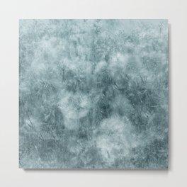Blue thistle Metal Print
