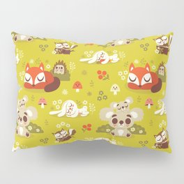 Sleeping Woodland Animals Pillow Sham