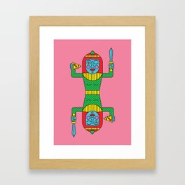 PIZZA KWEEN Framed Art Print