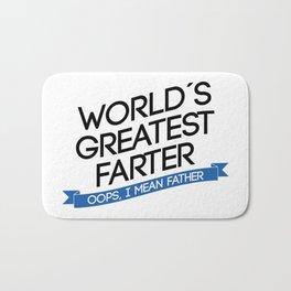 greatest farter ever Bath Mat