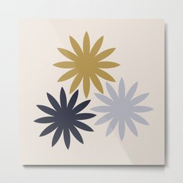 Three Flowers Metal Print
