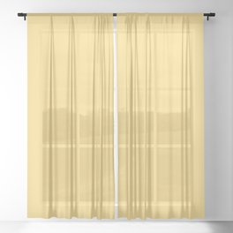 Sunset Stage Right ~ Creamed Butter Yellow Sheer Curtain