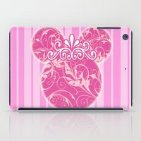 minnie mouse iPad Cases featuring Minnie Mouse Princess Pink Swirls by Whimsy and Nonsense