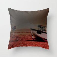 Deseert Boat Throw Pillow