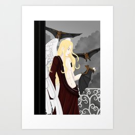 finding shelter Art Print