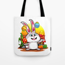 Easter Bunny | Happy Easter Juggling Eggs Tote Bag