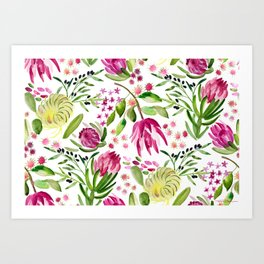 Protea Flower Bloom Art Print