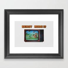 Beast Mode Framed Art Print