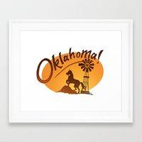 oklahoma Framed Art Prints featuring Oklahoma by Jacinta Eve