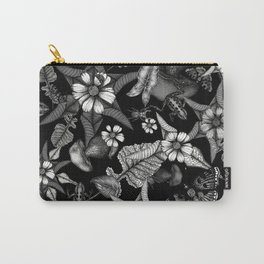 black and white pointillism Carry-All Pouch