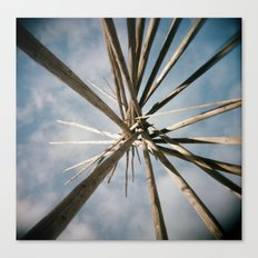 Teepee Top Canvas Print