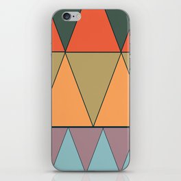 colorful triangles iPhone Skin