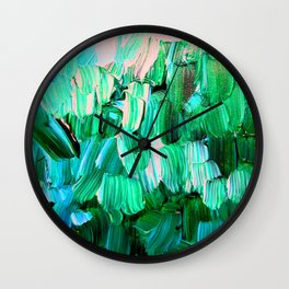 Moon Feathers Wall Clock