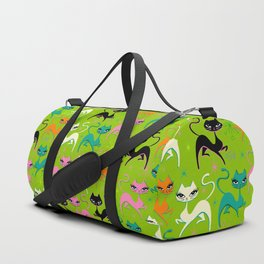 Prancing Kittens on Lime Duffle Bag