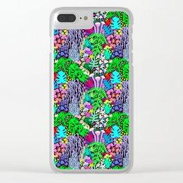 Jardin de la Jungle in Black Clear iPhone Case