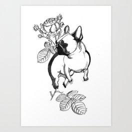 Rosie dog Art Print