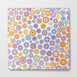 Millefiori Circles - color: Party Time Metal Print