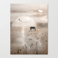 seahorse Canvas Prints featuring Seahorse by Laake-Photos