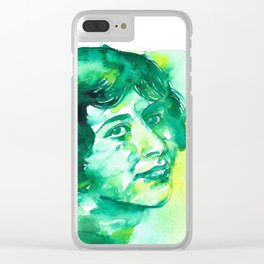 SIMONE WEIL - watercolor.2 Clear iPhone Case