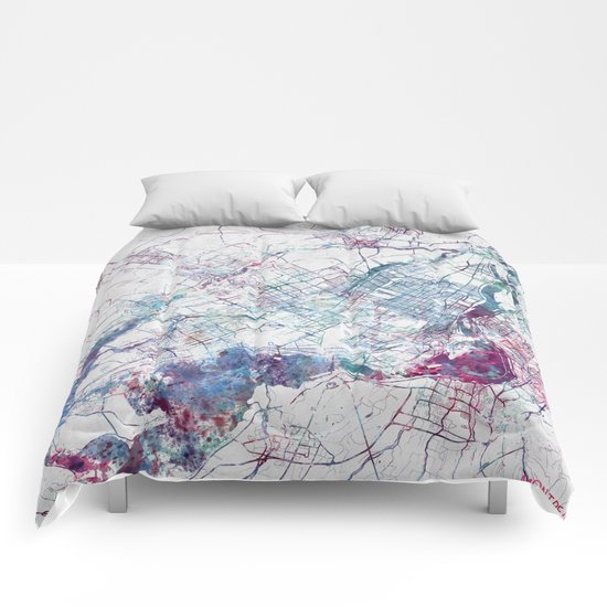 Montreal Map Comforters