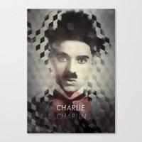 charlie chaplin Canvas Prints featuring Charlie Chaplin by Mahdi Chowdhury