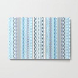 Woven Pattern 5.0 Metal Print