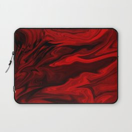 Blood Red Marble Laptop Sleeve