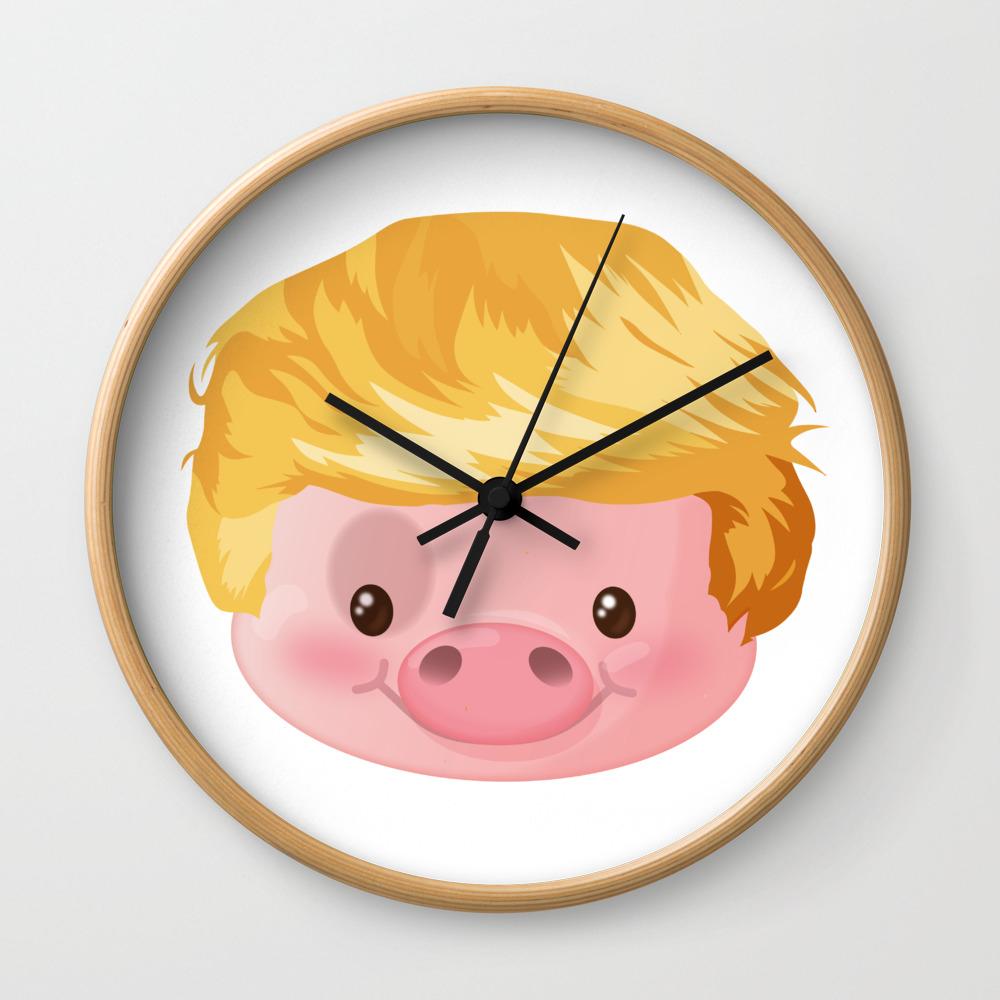a9cfcf85a Kawaii Trump Pig - Chinese Zodiac Year of Pig 2019 Wall Clock by ...