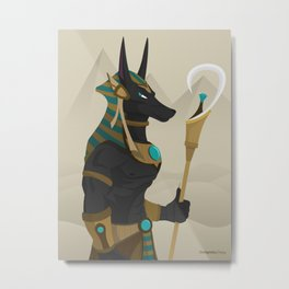Anubis Metal Print