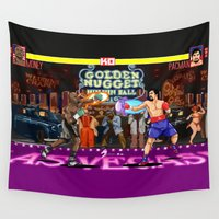 boxing Wall Tapestries featuring Boxing Legends: Money vs Pacman by Akyanyme