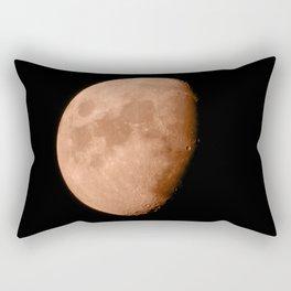 4K Dark Side of the Moon Blood Orange Rectangular Pillow
