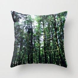 Vivid Tall Tall Trees Throw Pillow