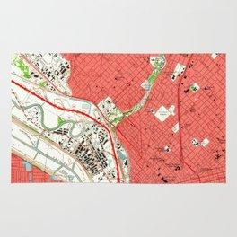Vintage Map of Dallas Texas (1958) 2 Rug