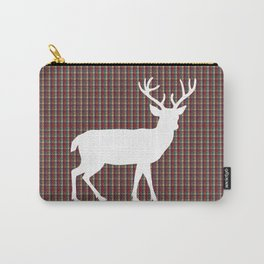 Plaid Deer Carry-All Pouch