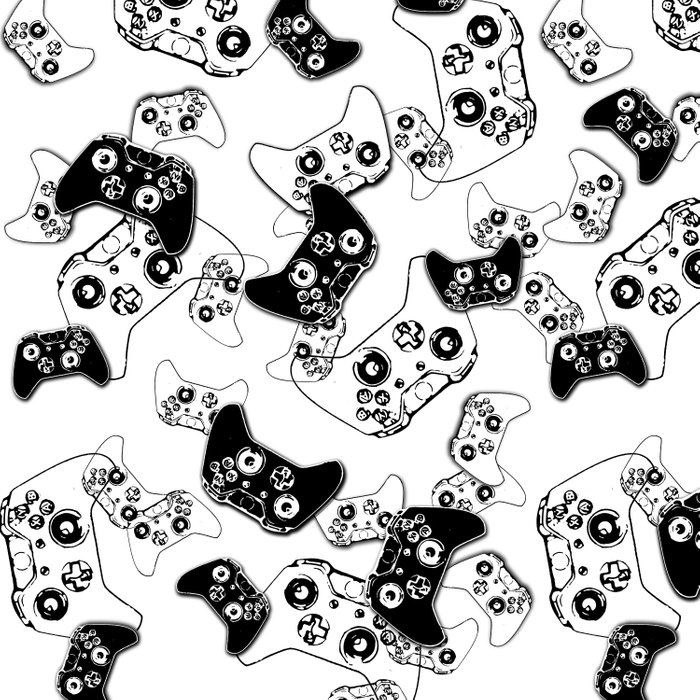 Video Game Black on White Comforters