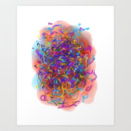 Dedicated to scribble Art Print