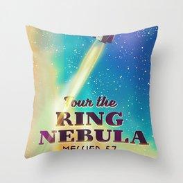 Tour the ring nebular sci-fi poster Throw Pillow