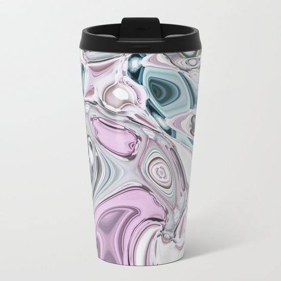 Abstract Liquid Gems 1 Metal Travel Mug
