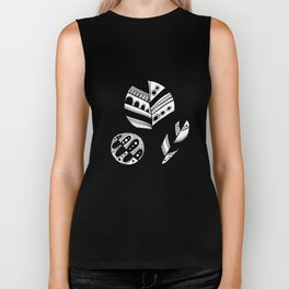 Graphical fall of the leaves Biker Tank