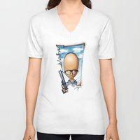 moby V-neck T-shirts featuring Moby by alexviveros.net