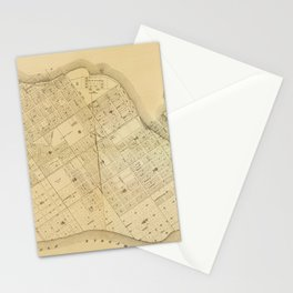 Map Of Key West 1906 Stationery Cards