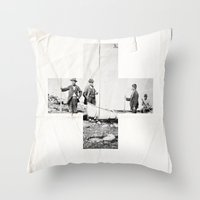 cross Throw Pillows featuring Cross by Anna Pietrzak