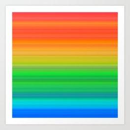 Bright Rainbow Stripes Art Print