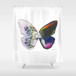 Rainbow Virgin  Shower Curtain