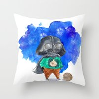 vader Throw Pillows featuring Vader by gunberk