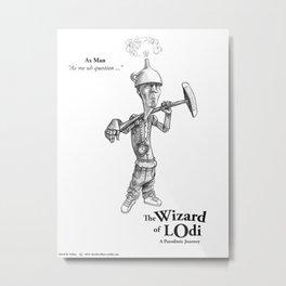 Ax Man Sketch Metal Print