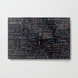 """""""I love you"""" Wall Metal Print"""