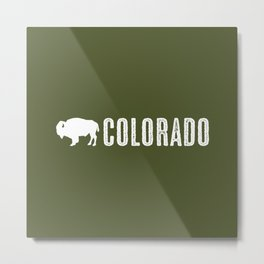 Bison: Colorado Metal Print
