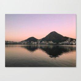 Lagoa Rio sunset Canvas Print
